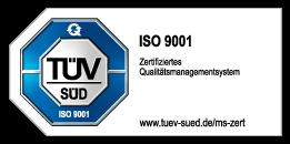 ISO 9001 - TÜV Süd Zertifikat